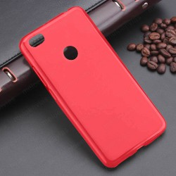 Funda para Xiaomi Redmi Note 5A carcasa Gel TPU Liso mate Color Rosa