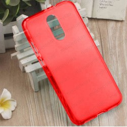 Funda para Xiaomi Redmi 5 Plus carcasa Gel TPU Liso mate Color Rojo
