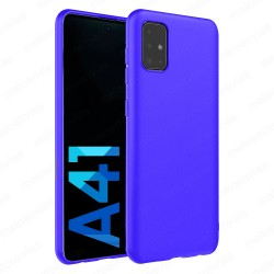 Funda carcasa para Samsung Galaxy A41 Gel TPU Liso mate Color Azul
