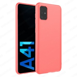 Funda carcasa para Samsung Galaxy A41 Gel TPU Liso mate Color Rosa