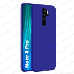 Funda carcasa para Xiaomi Redmi Note 8 Pro Gel TPU Liso mate Color Azul