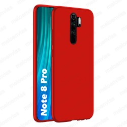 Funda carcasa para Xiaomi Redmi Note 8 Pro Gel TPU Liso mate Color Rojo