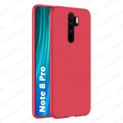 Funda carcasa para Xiaomi Redmi Note 8 Pro Gel TPU Liso mate Color Rosa